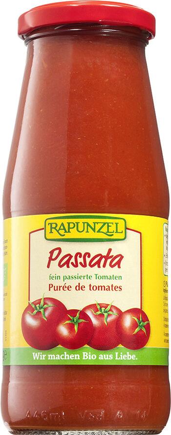 Bio passata: drcená rajčata RAPUNZEL 410 g