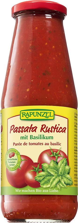 Bio passata RUSTICA s bazalkou RAPUNZEL 680 g