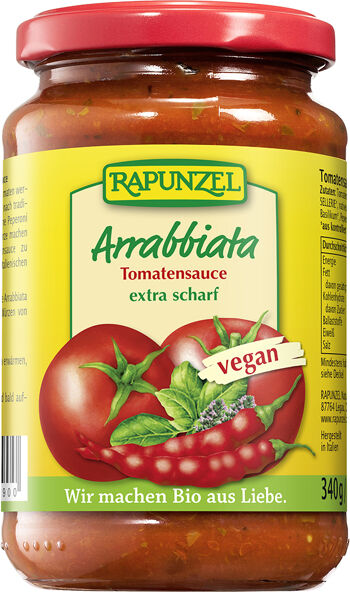 Bio ARRABBIATA omáčka na těstoviny RAPUNZEL 340 g