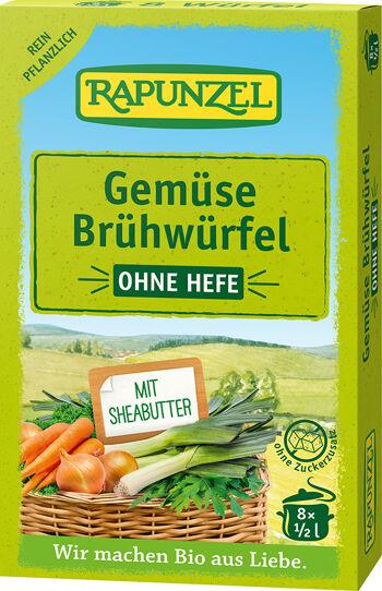 Bio zeleninový vývar bez droždí v kostce RAPUNZEL 8 ks