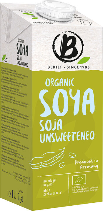 Bio sójový nápoj neslazený BERIEF 1 l