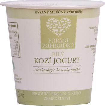 Bio kozí jogurt bílý Farma Zahrádka 150 g