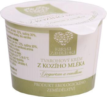 Bio kozí tvarohový krém vanilka Farma Zahrádka 100 g