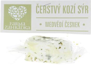 Bio kozí sýr čerstvý Medvědí česnek Farma Zahrádka 110 g