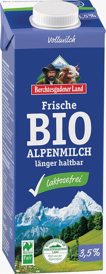 Bio čerstvé alpské mléko bez laktózy plnotučné BGL 1 l