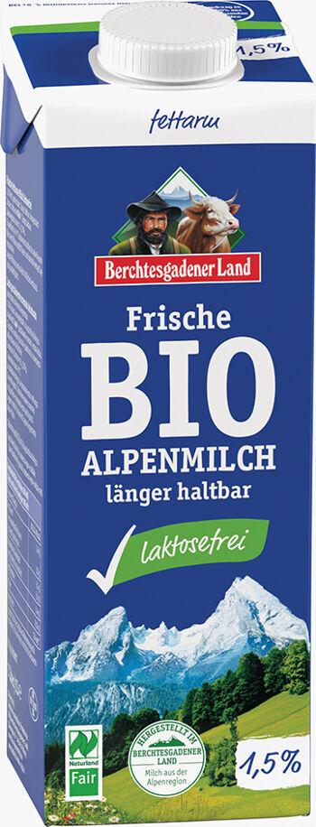 Bio čerstvé alpské mléko bez laktózy polotučné BGL 1 l