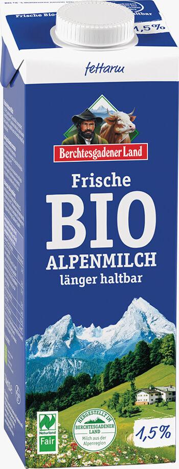 Bio čerstvé alpské mléko polotučné BGL 1 l