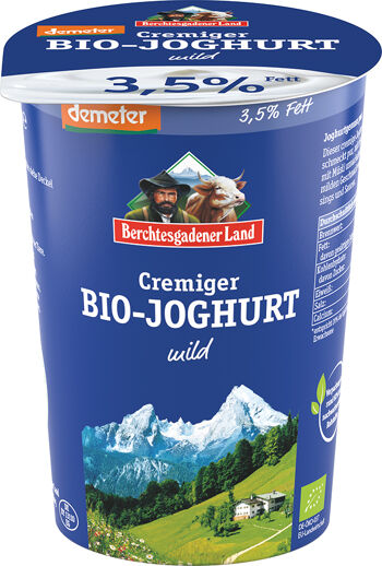 Bio bílý jogurt krémový 3,5 % tuku demeter BGL 500 g
