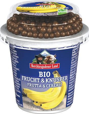 Bio banánový jogurt s čokoládovými kuličkami BGL 150 g
