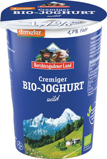 Bio bílý jogurt krémový 1,7 % tuku demeter BGL 500 g