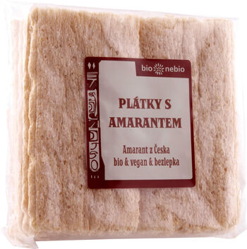 Bio plátky křupavé s amarantem bio*nebio 100 g