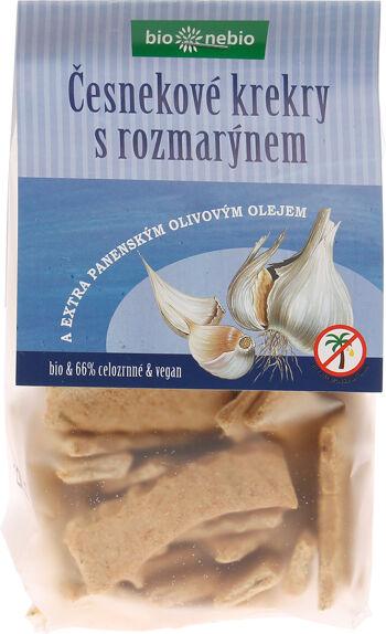 Bio česnekové krekry s olivovým olejem bio*nebio 130 g