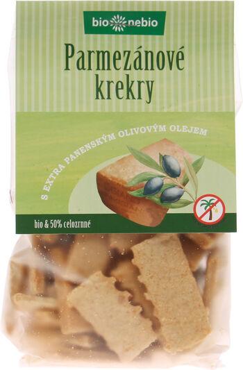 Bio parmezánové krekry s olivovým olejem bio*nebio 130 g