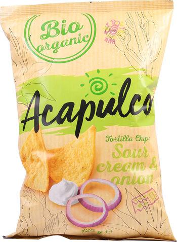 Bio tortilla chipsy zakysaná smetana 125 g
