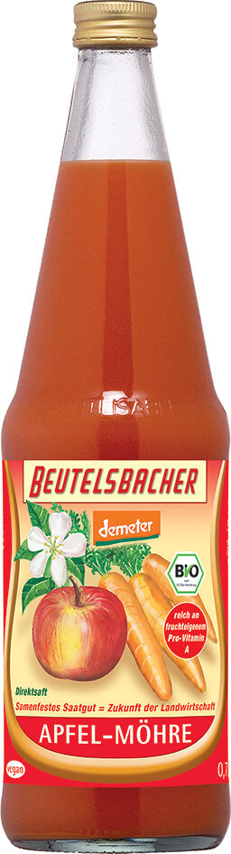 Bio jablečno-mrkvová šťáva Beutelsbacher 0,7 l