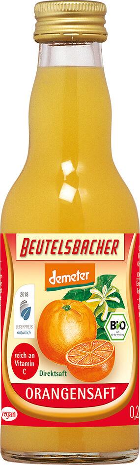 Bio pomerančová šťáva 100% Beutelsbacher 0,2 l