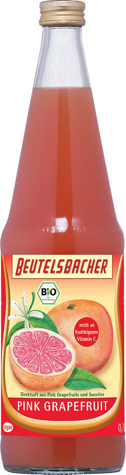 Bio růžová grepová šťáva 100% Beutelsbacher 0,7 l