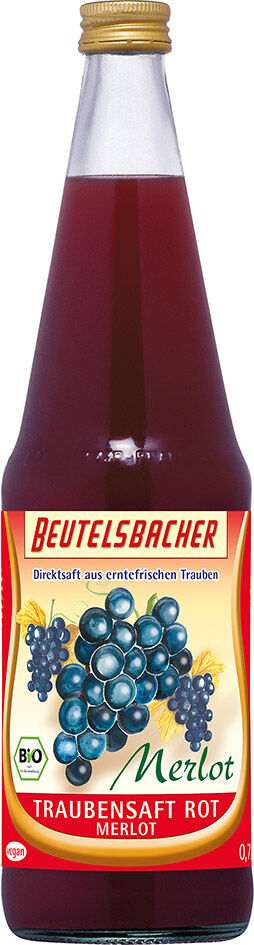 Bio hroznová šťáva červená 100% Beutelsbacher 0,7 l