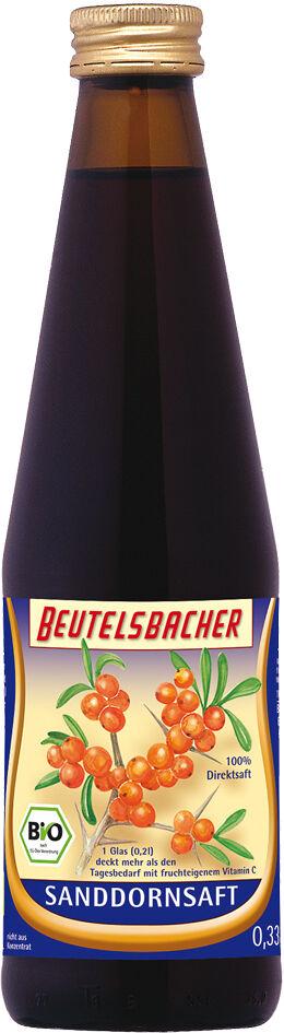 Bio rakytníková šťáva 100% Beutelsbacher 0,33 l