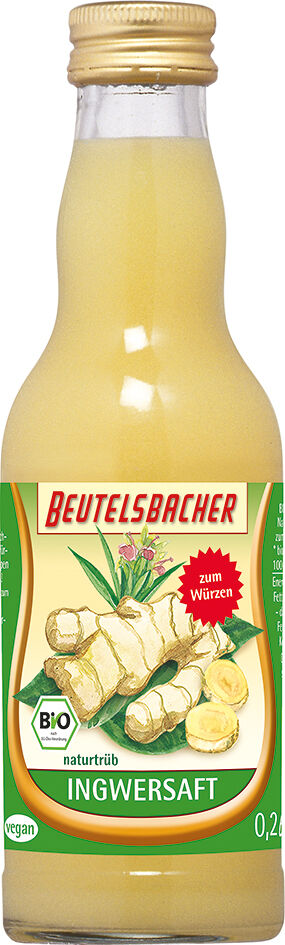 Bio zázvorová šťáva Beutelsbacher 0,2 l