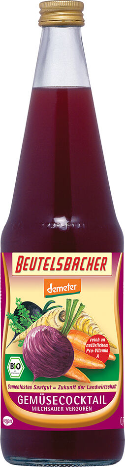 Bio zeleninový koktejl mléčně kvašený Beutelsbacher 0,7 l
