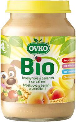 Bio broskvová s banány a cereáliemi OVKO 190 g