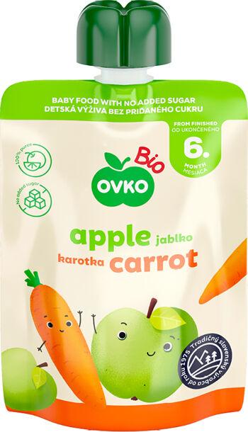 Bio kapsička jablko, karotka OVKO 90 g