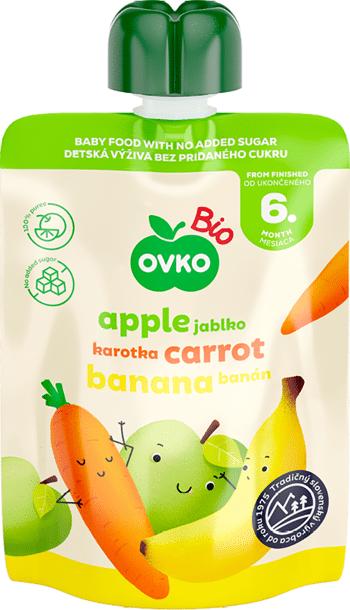 Bio kapsička jablko, karotka, banán OVKO 90 g