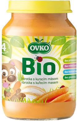 Bio karotka s kuřecím masem OVKO 190 g