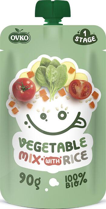 Bio kapsička zeleninová směs s rýží OVKO 90 g