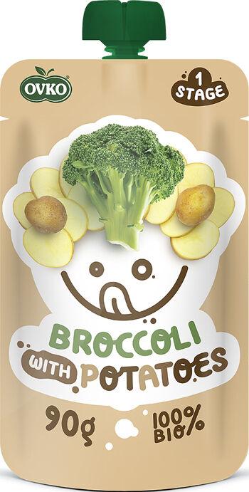 Bio kapsička brokolice s bramborami OVKO 90 g