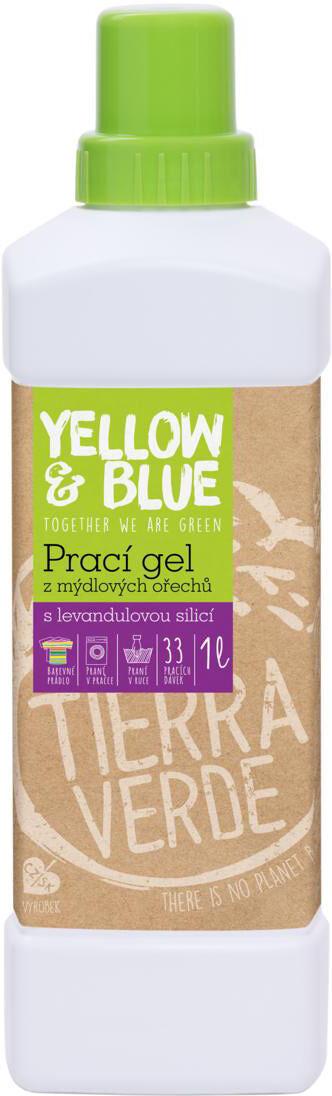 Prací gel z bio mýdlových ořechů levandule 1 l