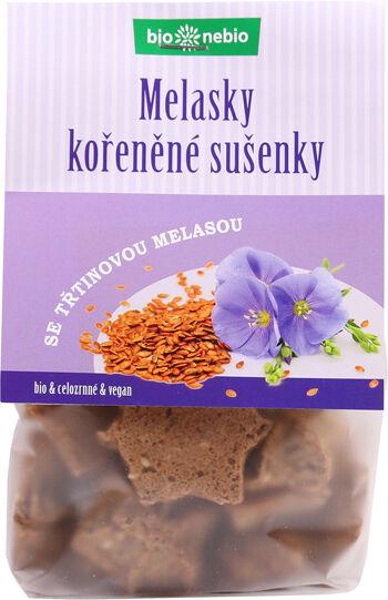Bio MELASKY - celozrnné sušenky s melasou bio*nebio 130 g