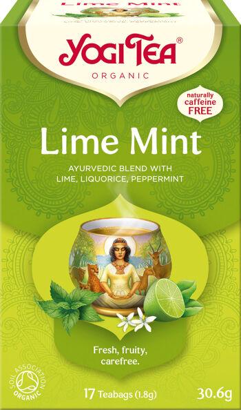 Bio Limetka Máta Yogi Tea 17 x 1,8 g