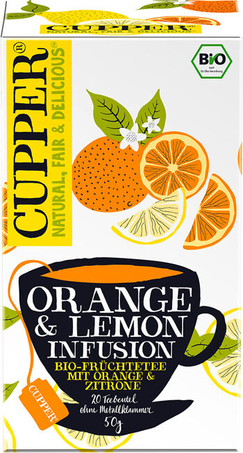 Bio Pomeranč a citrón Cupper 50 g