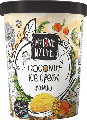 Bio kokosová zmrzlina Mango vegan My Love My Life 500 ml