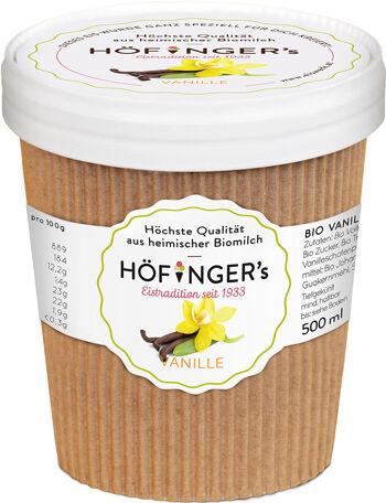 Bio smetanová zmrzlina vanilková Höfingers 500 ml