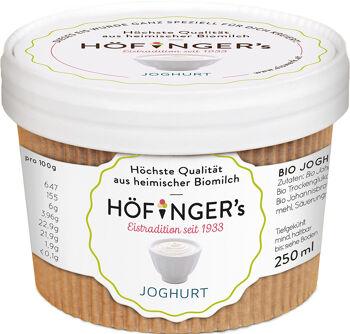 Bio jogurtová zmrzlina Höfingers 250 ml