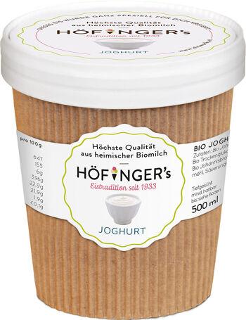 Bio jogurtová zmrzlina Höfingers 500 ml