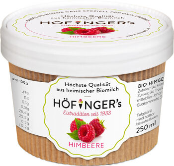 Bio sorbet malinový vegan Höfingers 250 ml