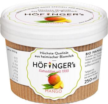 Bio sorbet mangový vegan Höfingers 250 ml