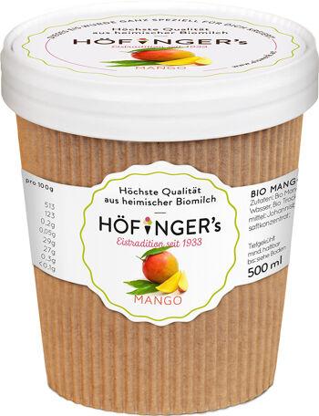 Bio sorbet mangový vegan Höfingers 500 ml