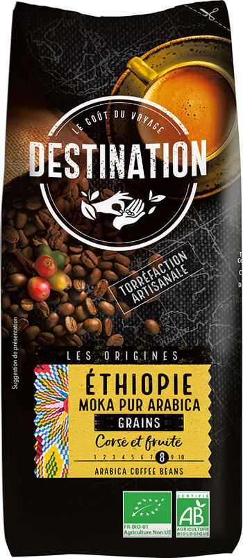 Bio káva zrnková Etiopie Destination 1 kg
