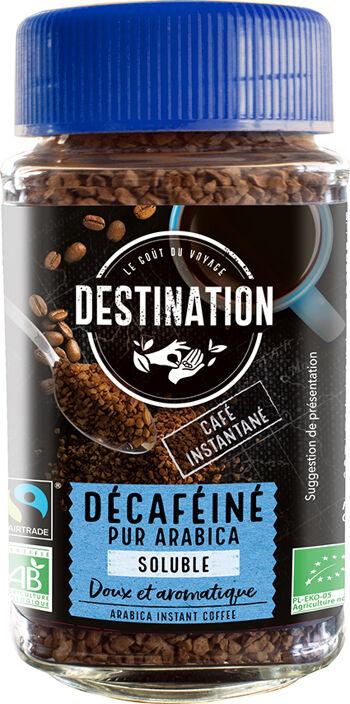 Bio instantní káva bez kofeinu Destination 100 g