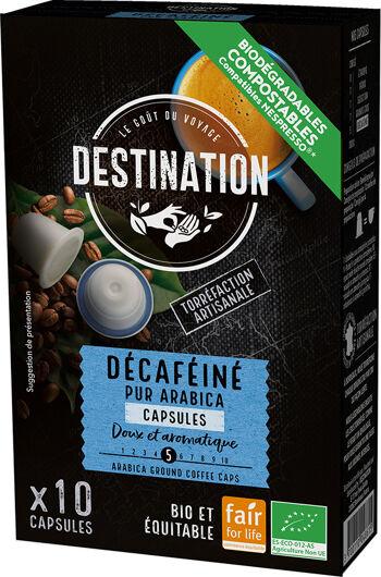 Bio kávové kapsle bez kofeinu Destination 10 ks