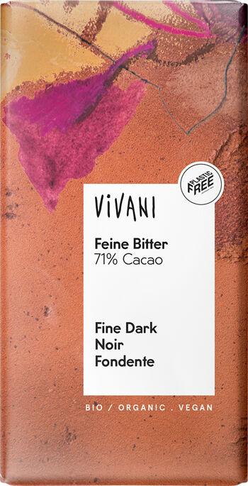 Bio hořká čokoláda  71% VIVANI 100 g