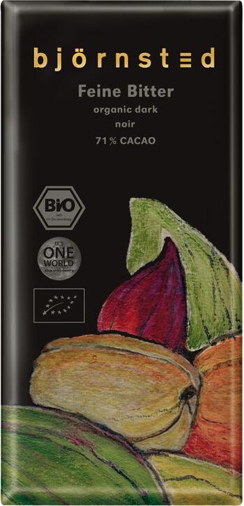 Bio hořká čokoláda  71% björnsted 100 g