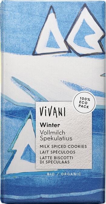 Bio mléčná čokoláda zimní  VIVANI 100 g