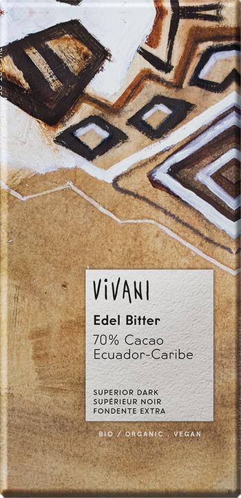Bio hořká  čokoláda 70% Ekvádor VIVANI 100 g