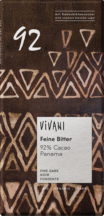 Bio hořká čokoláda 92% s kokosovým cukrem VIVANI 80 g